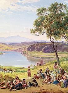 Colazione di mietitori sulle rive del fiume