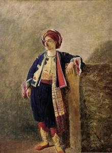 Uomo in costume orientale