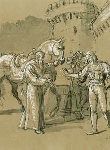 Scena dalla vita di San Francesco di Paola