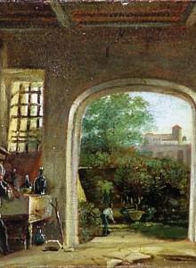 Vista nel giardino duca Friedrich IV von Sachsen-Gotha-Altenburg a Roma